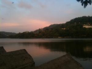 Kandy Lake at sunset