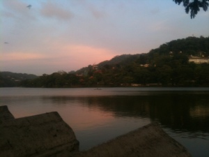 Kandy Lake at sunset