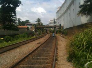 Tracks that run through town.