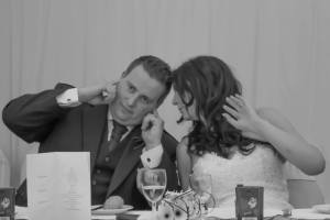 Love this photo from the wedding. I think it is how Davie felt a lot of the time I was staying there!