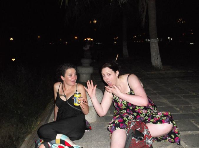 Bec and I in Vietnam a couple of years ago.  Just a pair of Classy Broads!