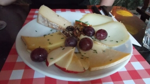 It started with wine and a cheese platter