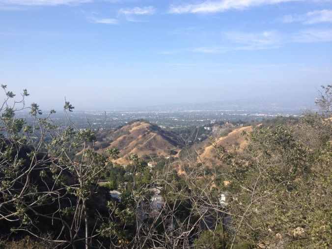 View from Mulholland Drive. The Internet says we drove past Madonna's house.
