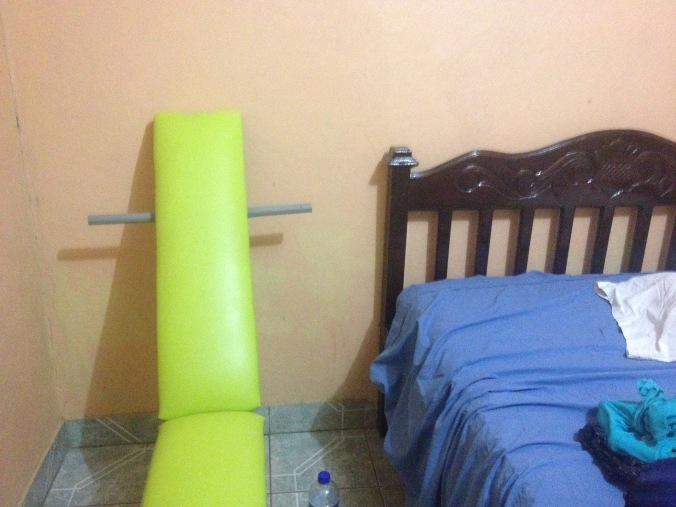I am not sure I even want to know what this thing next to the bed is meant to be.